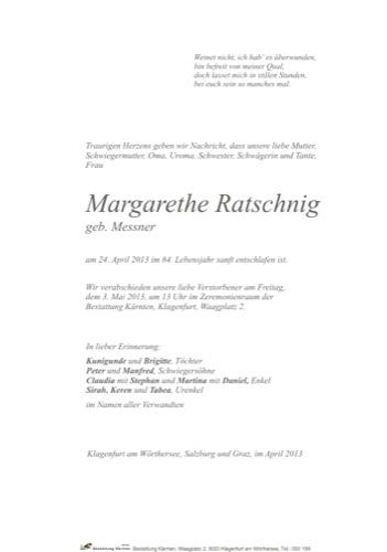 RATSCHNIG Margarethe