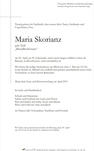 SKORIANZ Maria