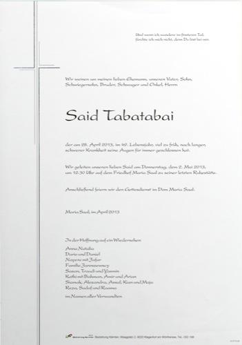 TABATABAI Seyed