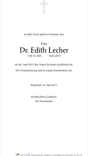 LECHER Edith