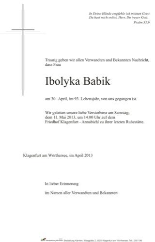 BABIK Ibolyka