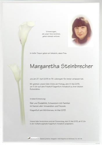 STEINBRECHER Margaretha