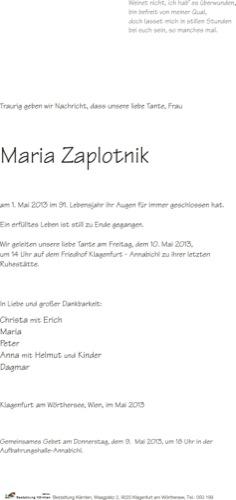 ZAPLOTNIK Maria