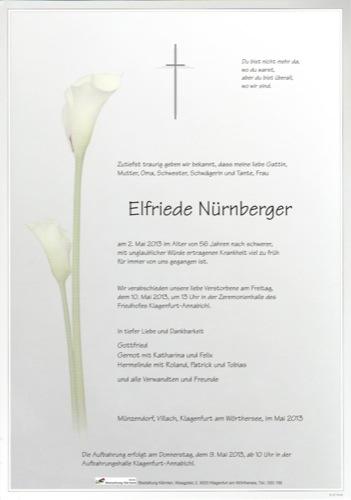 NÜRNBERGER Elfriede