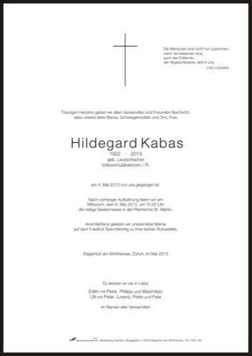 KABAS  Hildegard