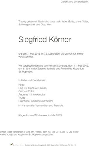 KÖRNER Siegfried
