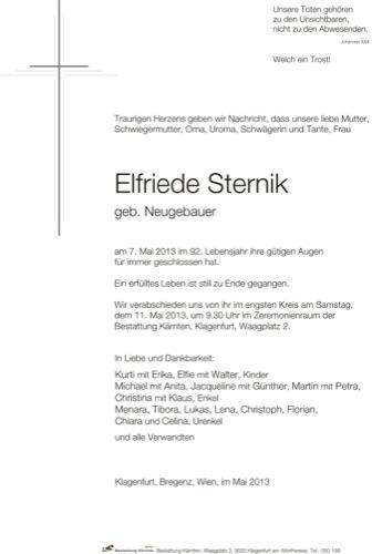 STERNIK Elfriede