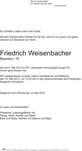 WEISENBACHER Friedrich