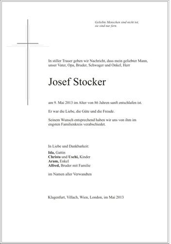 STOCKER Josef