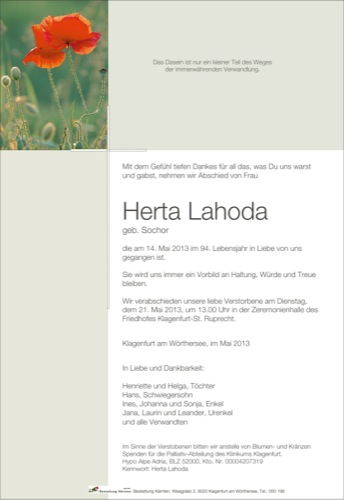 LAHODA Herta