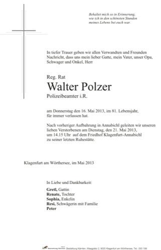 POLZER Walter Hermann