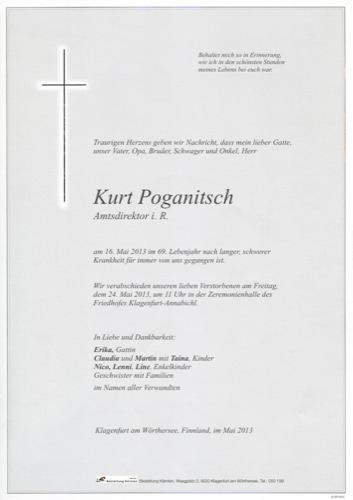 POGANITSCH Kurt