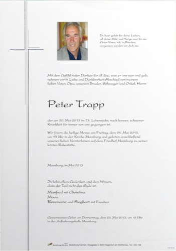 TRAPP Peter
