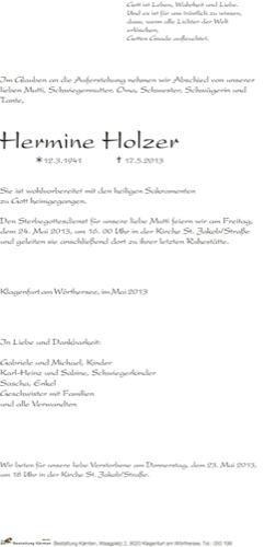 HOLZER Hermine