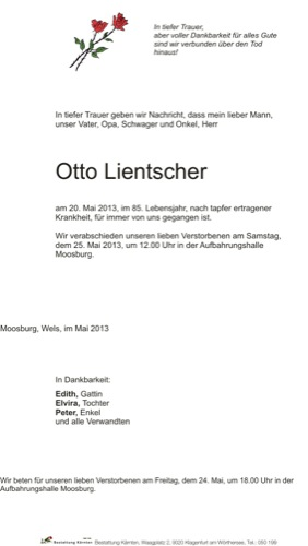 LIENTSCHER Otto