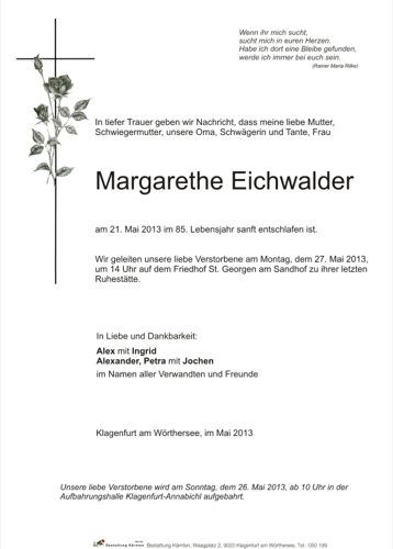 EICHWALDER Margarethe