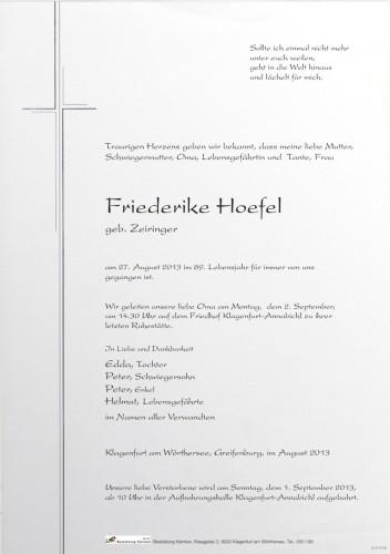 Friederike Hoefel