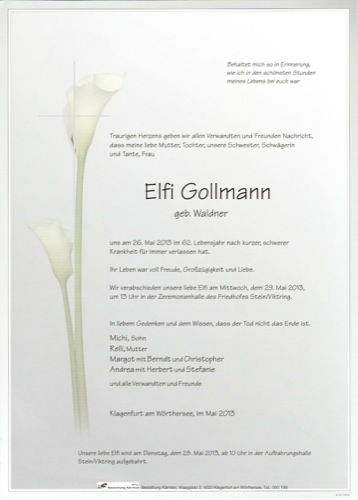 GOLLMANN Elfi