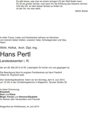 PERTL Hans