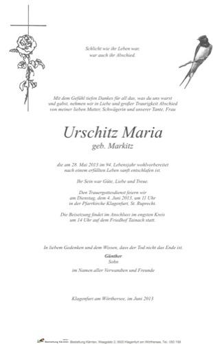 URSCHITZ Maria