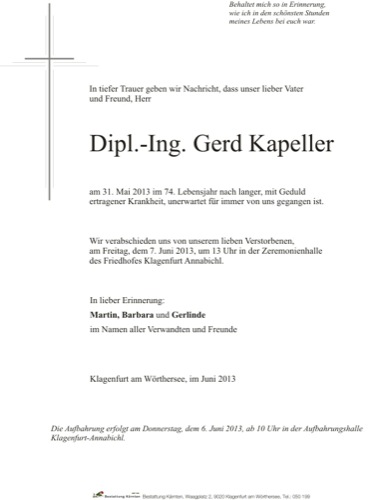 KAPELLER Gerd