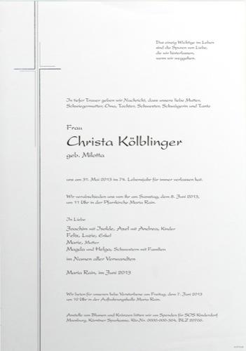 KÖLBLINGER Christa