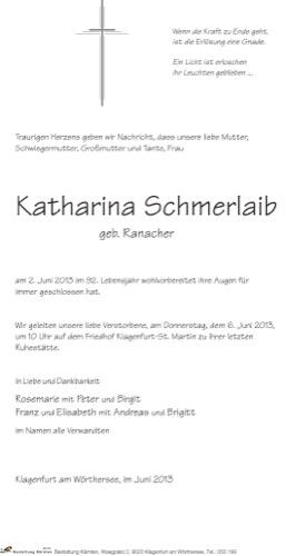 SCHMERLAIB  Katharina