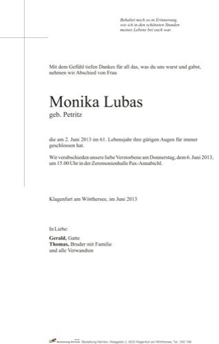 LUBAS Monika