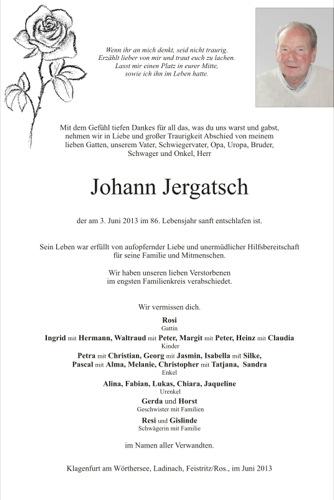 JERGATSCH  Johann