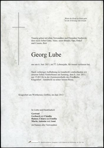 LUBE  Georg