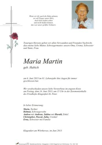 MARTIN Maria