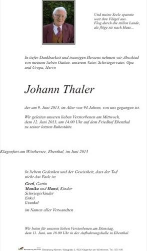 THALER Johann