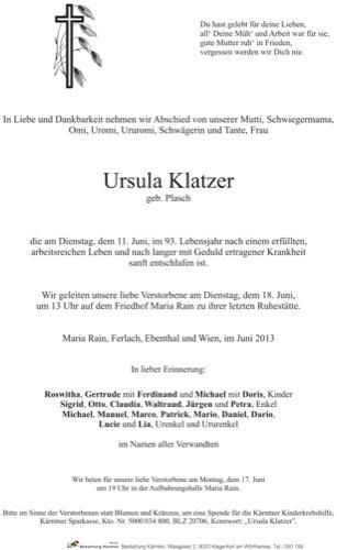 KLATZER Ursula