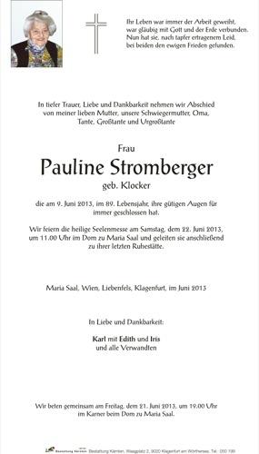 STROMBERGER Pauline