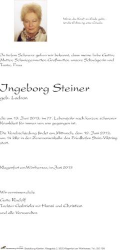 STEINER Ingeborg