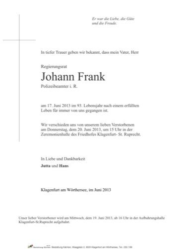 FRANK Johann