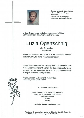 Luzia Ogertschnig   geb. Moser