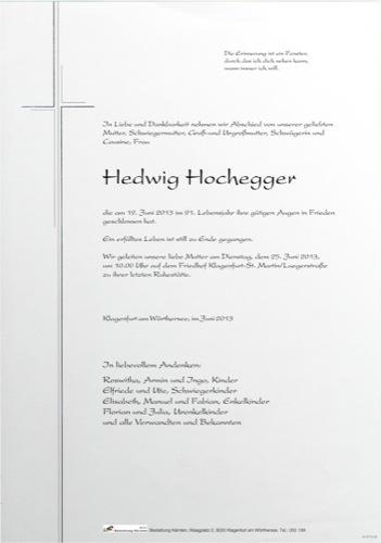 HOCHEGGER Hedwig
