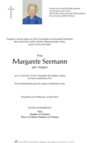 SEEMANN Margarete