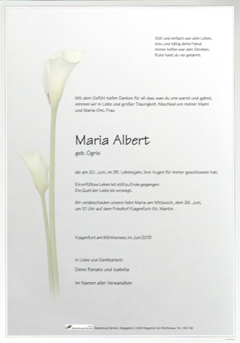 ALBERT Maria