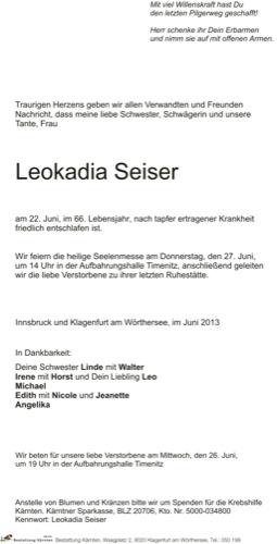SEISER Leokadia