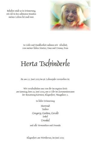TSCHINDERLE Herta