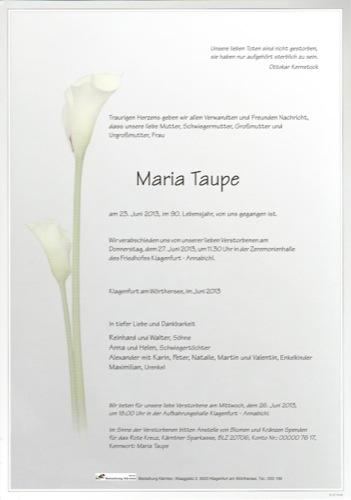TAUPE Maria