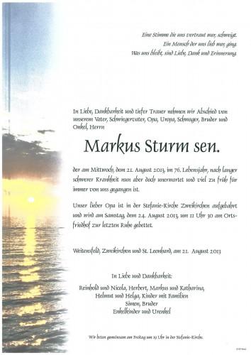 Markus Sturm sen.