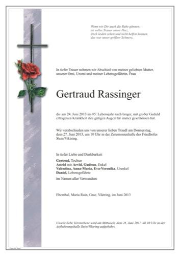 RASSINGER Gertraud
