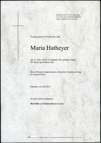 HATHEYER Maria