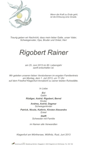 RAINER Rigobert