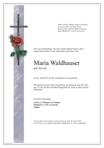 WALDHAUSER Maria