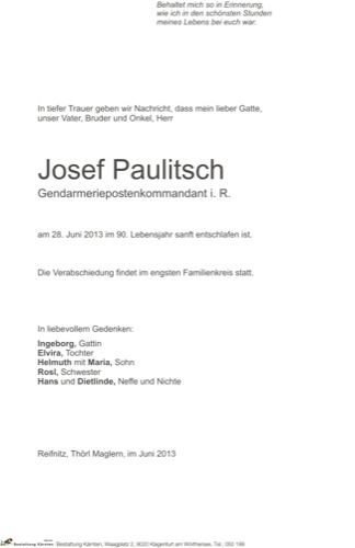 PAULITSCH Josef