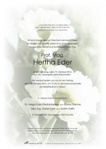 Prof. Mag. Hertha Eder